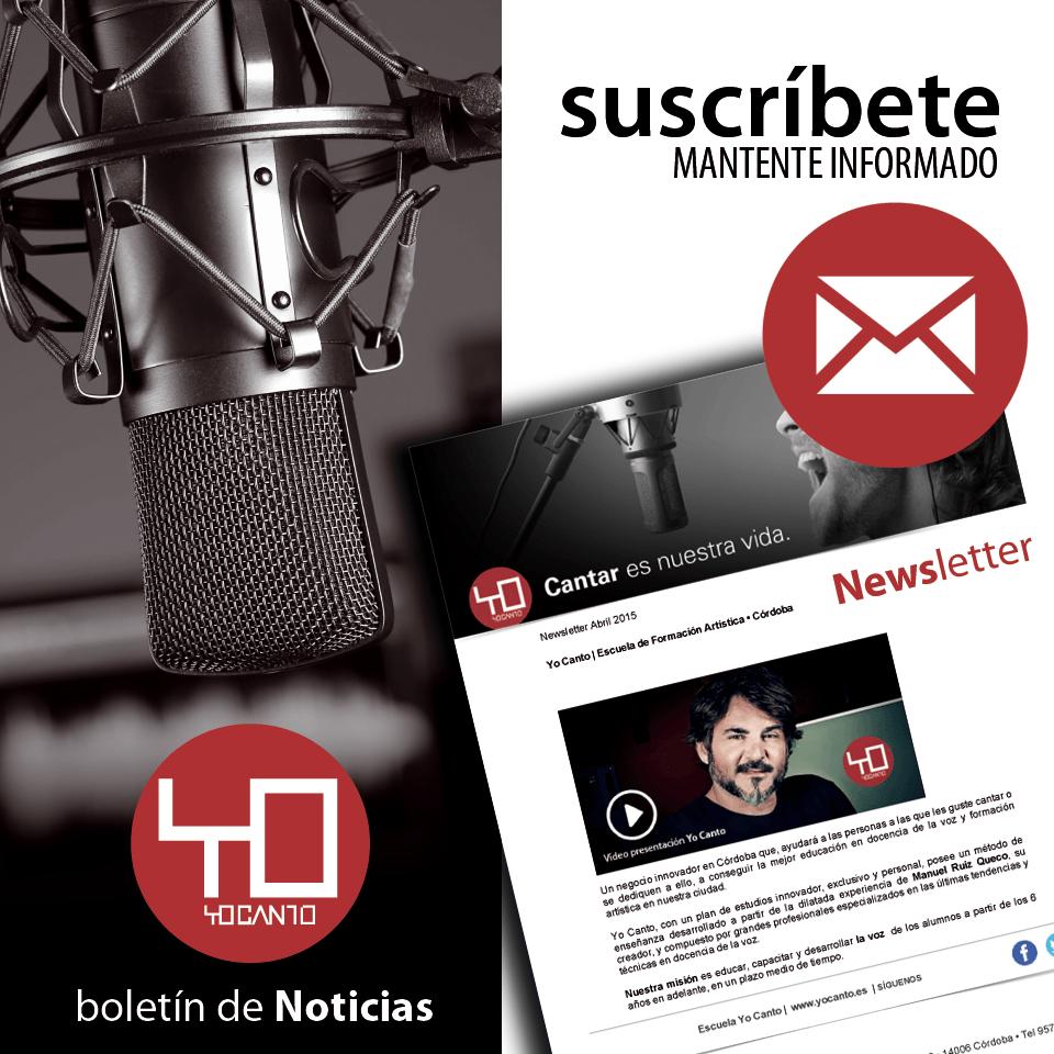 Boletín de Noticias | Newsletter Yo Canto